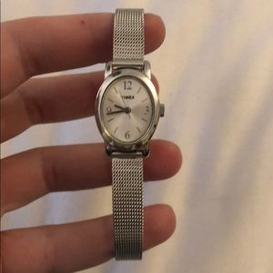 Timex watch - silver narrow band new